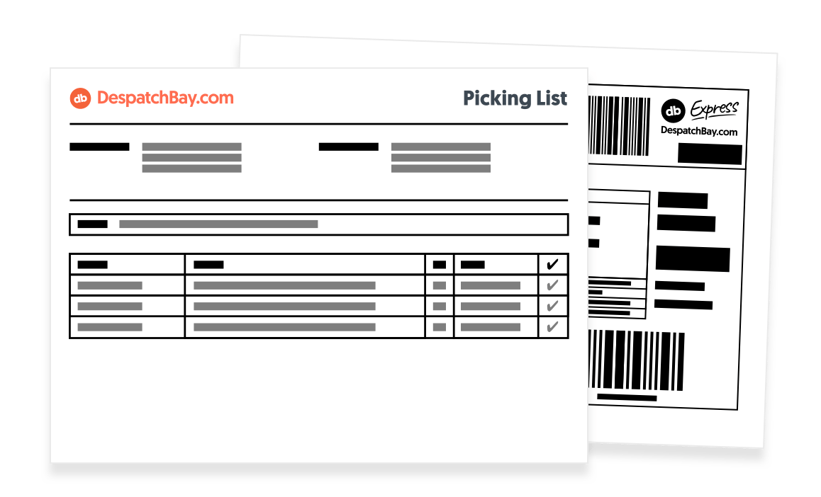 Example Picking List With a Label