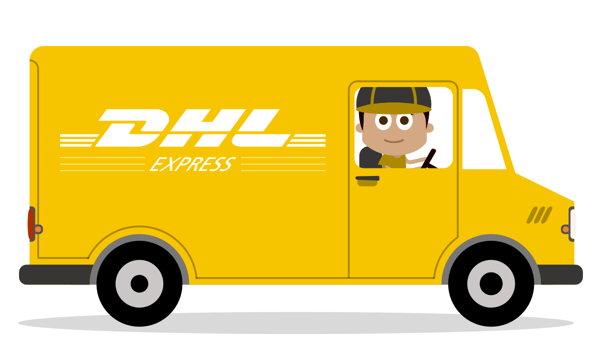Illustration of a DHL Van